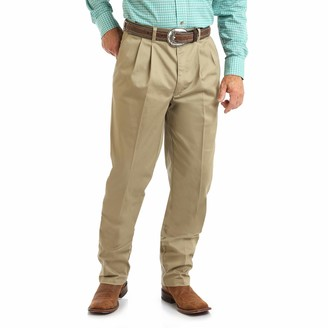 Wrangler Men's Big & Tall Riata Pleated Relaxed Fit Casual Pant