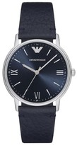 Emporio Armani Leather Strap Watch, 32Mm