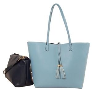 Imoshion Handbags Premium Vegan Leather 2-in-1 Reversible Tote