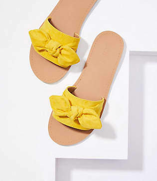 LOFT Refined Slide Bow Sandal