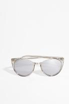 Linda Farrow Luxe White Gold Half Rim Sunglasses
