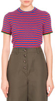 Proenza Schouler Striped Crewneck Cropped Tee