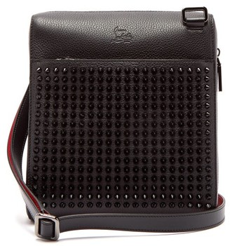 Christian Louboutin Benech Medium Spike Embellished Leather Bag - Mens - Black Multi