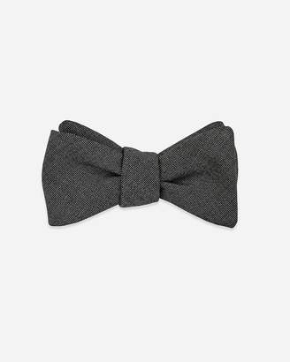 Express Pocket Square Clothing Bartlet Charcoal Wool Bow Tie