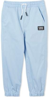 Burberry logo drawstring track trousers