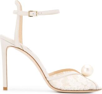 Jimmy Choo lace Sacora 100 sandals