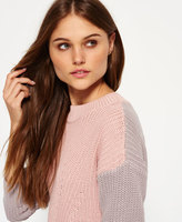 Superdry Colour Block Rib Knit Sweater