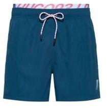 HUGO BOSS Unisex Quick Drying Swim Shorts With Exposed Logo Waistband - light pink
