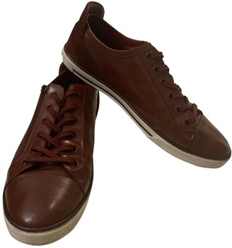 Louis Vuitton Match Up Burgundy Leather Trainers