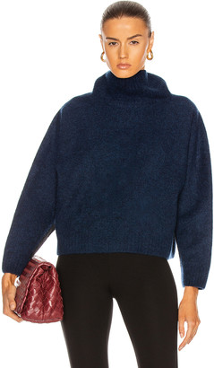 Holden Seamless High Neck Sweater in Navy | FWRD