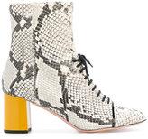 Rochas contrast colour-block boots