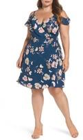 City Chic Plus Size Women's Lulu Floral Wrap Dress