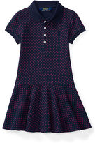 Ralph Lauren Polka-Dot Stretch Polo Dress