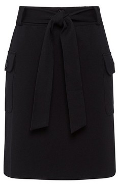 Dorothy Perkins Womens Black Utility Ponte Mini Skirt, Black