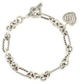 David Yurman Diamond Heart Charm Bracelet