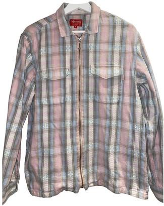 Supreme Pink Cotton Jackets