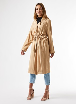 Miss Selfridge Camel Fluid Duster Coat