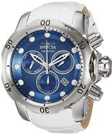 Invicta Men's 'Venom' Quartz Stainless Steel and Leather Casual Watch
