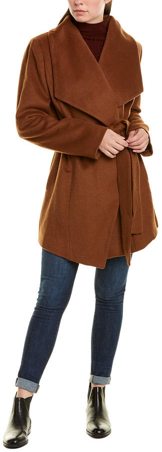 Tahari Wool-Blend Wrap Coat