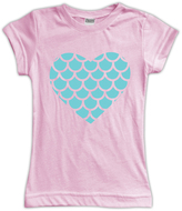 Urban Smalls Pink Scale Heart Fitted Tee - Toddler & Girls