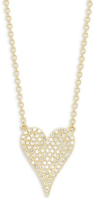 Saks Fifth Avenue 14K Gold Diamond Heart Pendant Necklace