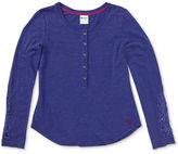 Roxy Kids Shirt, Girls Snowed-In Long-Sleeve Henley
