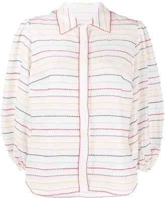 Zimmermann Zinnia scallop stripe shirt