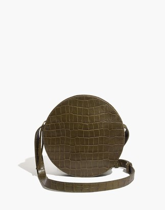 Madewell The Simple Circle Crossbody: Croc Embossed Leather Edition