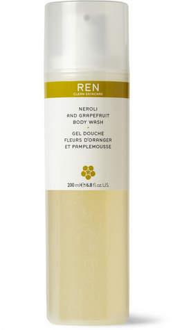 REN Clean Skincare - Neroli And Grapefruit Body Wash, 200ml - White