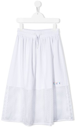 DKNY TEEN contrast flared skirt