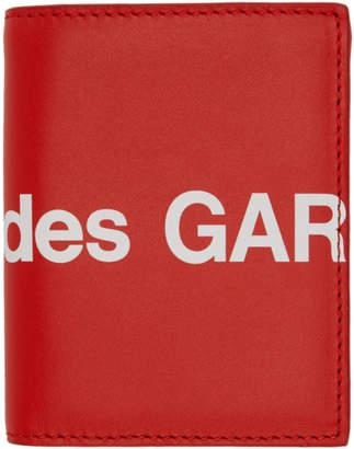 Comme des Garcons Wallets Wallets Red Huge Logo Card Holder