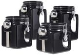 Oggi OggiTM EZ Grip Handle 4-Piece Kitchen Canister Set in Black
