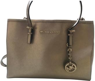 Michael Kors Jet Set Metallic Leather Handbags