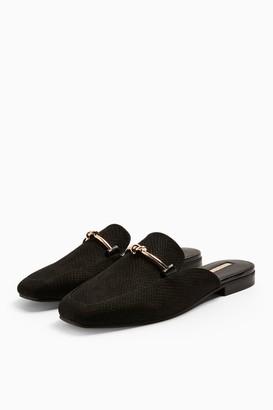 Topshop ADA Black Mule Loafers