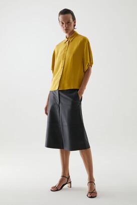 Cos Short Puff Sleeve Shirt