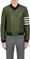 Thom Browne MEN'S LEATHER VARSITY JACKET