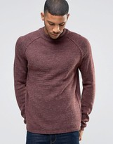 Bellfield Reverse Seam Turtle Neck Knitted Jumper