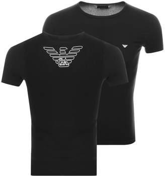 Giorgio Armani Emporio Lounge Crew Neck T Shirt Black