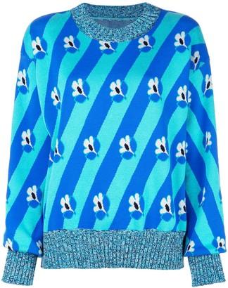 MM6 MAISON MARGIELA Slouchy Foral Stripe Sweater
