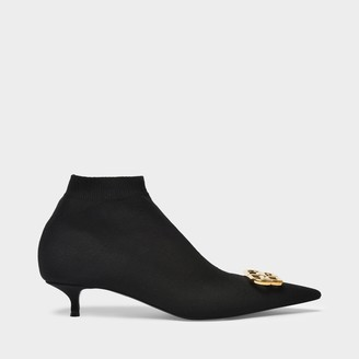 Balenciaga Knife 40 Ankle Boots In Black Fabric