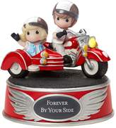 """Precious Moments Forever By Your Side"""" Wind-Up Motorcycle Couple Figurine"""