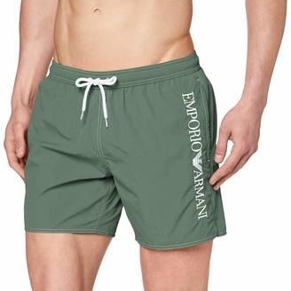 Emporio Armani Men's Boxer Beachwear Embroidery Logo Swim Trunks