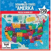 Scrambled States of America Puzzle & Book Set by Gamewright