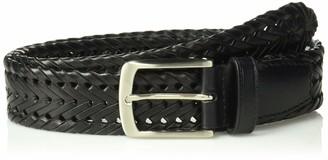 Trafalgar Men's 100% Leather Braided Belt