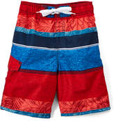 Kanu Surf Navy & Red Fusion Stripe Boardshorts - Toddler & Boys