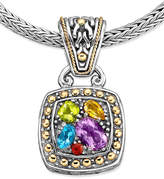 Effy Balissima by Multistone Square Pendant (1-5/8 ct. t.w.) in 18k Gold and Sterling Silver