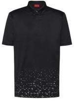 HUGO BOSS - Mercerized Cotton Polo Shirt With Stardust Print - Black