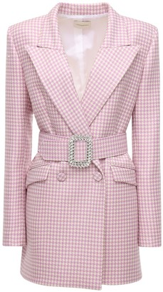 Giuseppe di Morabito Houndstooth Wool Jacket Dress