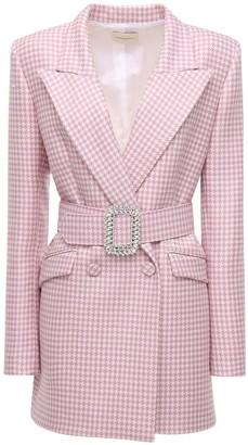 Giuseppe di Morabito Houndstooth Wool Jacket Dress