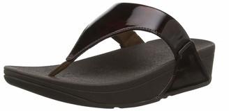 FitFlop Women's Lulu Toe Post-Tortoise Shell Pu Open Sandals